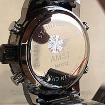 Оригинальные наручные мужские часы AMST 3022 Metall Black-Blue, фото 3