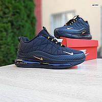 Зимние кроссовки Nike Air Max 720 - 878 (черно-оранжевые) - Унисекс 3652