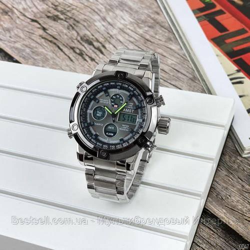 Оригінальні наручні чоловічі годинники AMST 3022 Metall Silver-Black