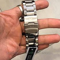 Оригінальні наручні чоловічі годинники AMST 3022 Metall Silver-Black, фото 3