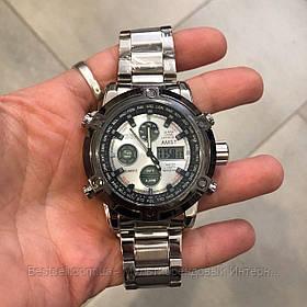 Оригінальні наручні чоловічі годинники AMST 3022 Metall Silver-Black-Silver
