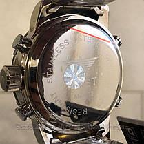 Оригинальные наручные мужские часы AMST 3022 Metall Silver-Black-Silver, фото 3
