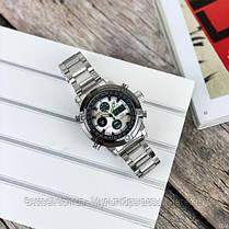 Оригінальні наручні чоловічі годинники AMST 3022 Metall Silver-Black-Silver, фото 2