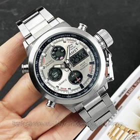 Оригінальні чоловічі годинники сталевий ремінець AMST 3003 All Silver Metall