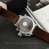 Оригінальні чоловічі годинники сталевий ремінець AMST 3003 Silver-Green-Brown Wristband, фото 2
