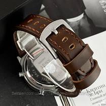 Оригінальні чоловічі годинники сталевий ремінець AMST 3003 Silver-Green-Brown Wristband, фото 3