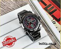 Оригинальные наручные мужские часы  AMST 3022 Metall Black-Red