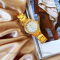 Женские часы кварцевые оригинал Bee Sister 1258 Gold-White Diamonds (видеообзор в описании), фото 3