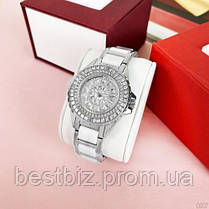 Женские часы кварцевые оригинал Bee Sister 1490 Silver-White Diamonds, фото 3