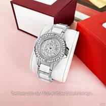 Жіночі годинники кварцові оригінал Bee Sister 1490 Silver-White Diamonds, фото 3
