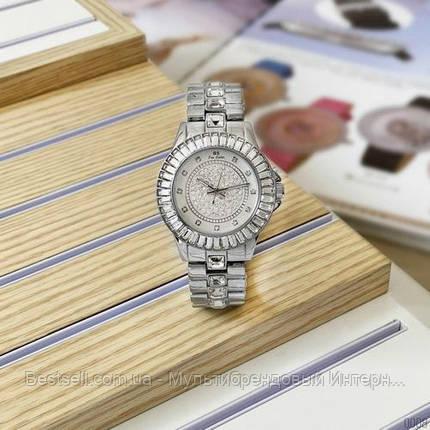 Женские часы кварцевые оригинал Bee Sister 0629 All Silver, фото 2