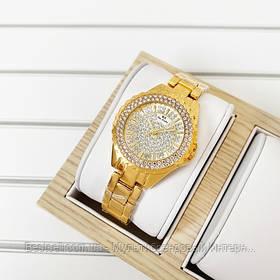 Жіночі годинники кварцові оригінал Bee Sister 0280 All Gold Diamonds