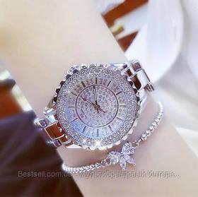 Жіночі годинники кварцові оригінал Bee Sister 0280 All Silver Diamonds