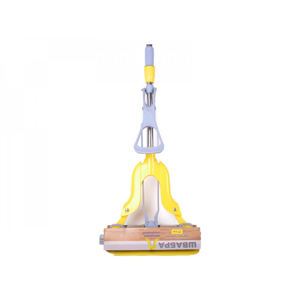 Швабра Бабочка с телескопической ручкой желтая Eco Fabric EF-2723