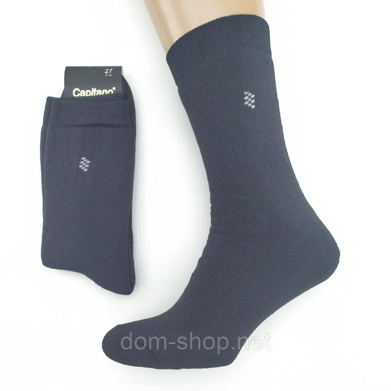 Махровые мужские носки высокие Capitano 27р черные Червоноград