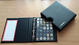 Альбом для монет Schulz 221 ячейка в футляре черные вкладыши, фото 2