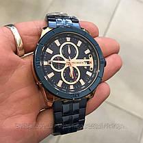 Оригинальные мужские часы стальной ремешок Curren 8337 Blue-Cuprum / Часы Курен, фото 3