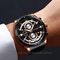 Оригінальні чоловічі годинники сталевий ремінець Curren 8360 Black-Gold / Годинник оригінал паління від різних фірм., фото 2