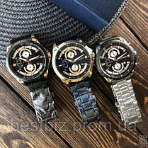 Оригінальні чоловічі годинники сталевий ремінець Curren 8360 Black-Gold / Годинник оригінал паління від різних фірм., фото 3