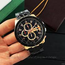 Оригінальні чоловічі годинники сталевий ремінець Curren 8337 Black-Cuprum / Годинник паління від різних фірм., фото 2
