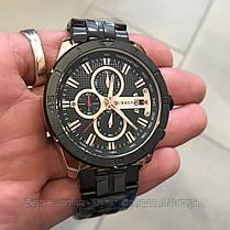 Оригінальні чоловічі годинники сталевий ремінець Curren 8337 Black-Cuprum / Годинник паління від різних фірм., фото 3