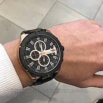 Оригинальные мужские часы стальной ремешок Curren 8337 Black-Cuprum / Часы Курен, фото 2