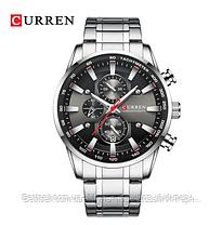 Оригінальні чоловічі годинники сталевий ремінець Curren 8351 Silver-Black / Годинник паління від різних фірм., фото 3