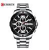 Оригинальные мужские часы стальной ремешок Curren 8336 Silver-Black / Часы Курен, фото 3