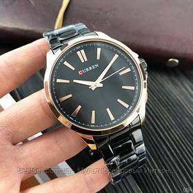 Оригінальні чоловічі годинники сталевий ремінець Curren 8322 Cuprum-Black / Годинник паління від різних фірм.