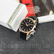 Оригінальні чоловічі годинники сталевий ремінець Curren 8322 Cuprum-Black / Годинник паління від різних фірм., фото 2