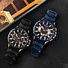 Оригінальні чоловічі годинники сталевий ремінець Curren 8363 Blue-Cuprum / Годинник паління від різних фірм., фото 5