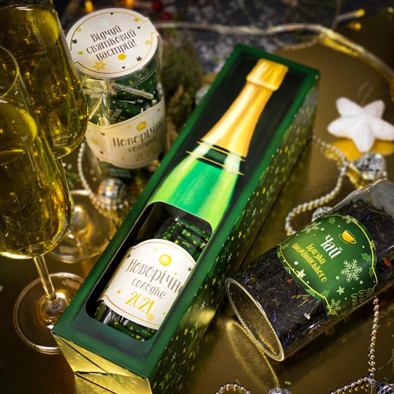 Подарунковий новорічний набір  Шампанське, новорічний подарунок