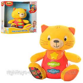 Животное 0685-NL (12шт) котенок 15,5см,18см,муз-звук,свет,плюш+пласт,на бат-ке,20,5-21,5-11,5