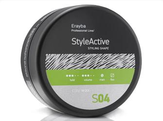 Erayba Style Active Воск с матовым эффектом Clay Wax S04 средней фиксации, 90 мл