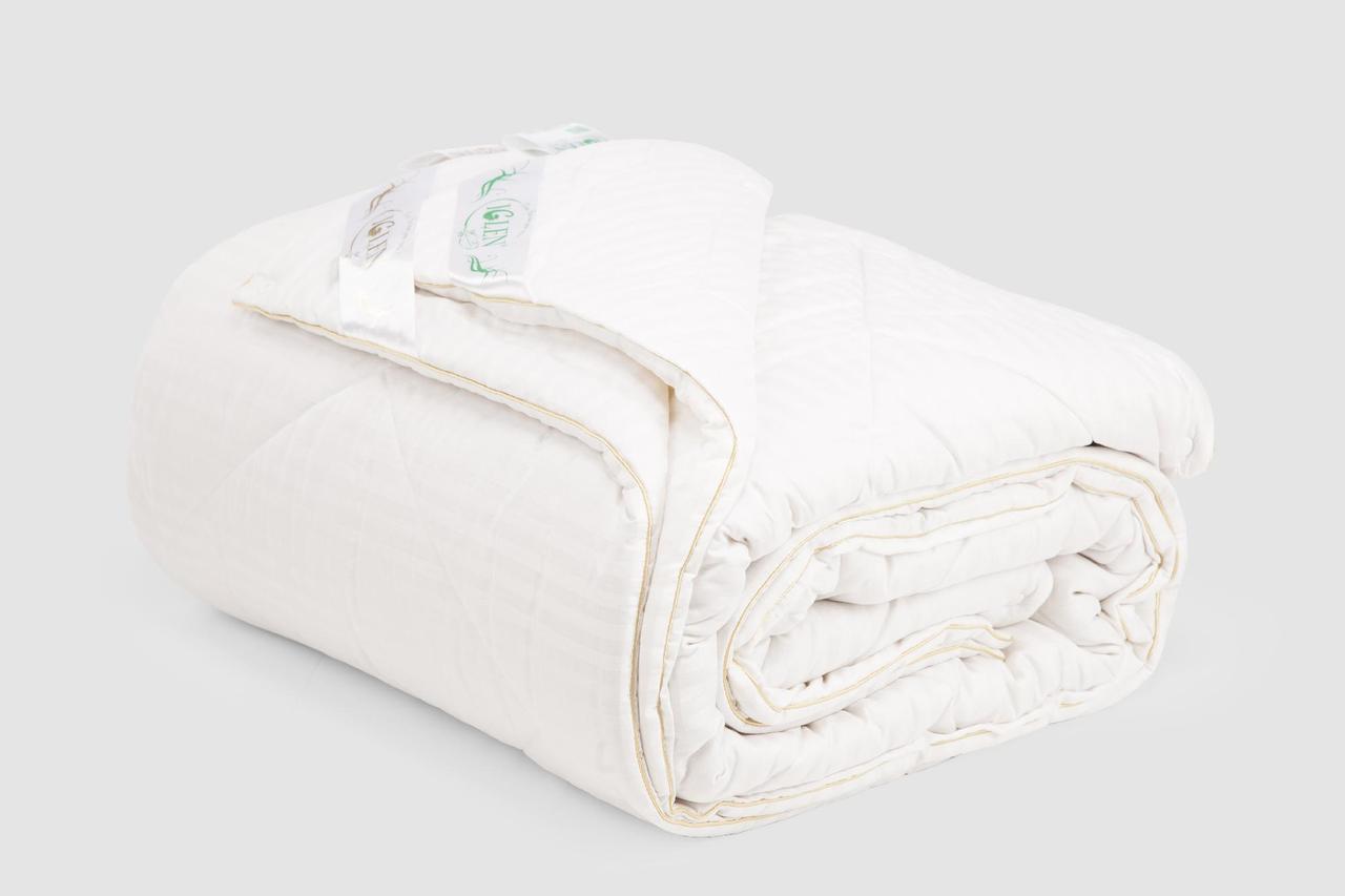 Одеяло IGLEN Дуэт из хлопка и шерсти Универсальное 140х205 см Белый (14020551+711)