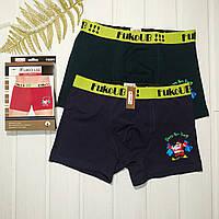 Мужские трусы боксерки хлопковые новогодние Fuko Ub за 2 шт в упаковке новогодние  Размер XL