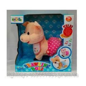 Мягкая игрушка CL1397A (24шт) свинка, 28см, ползает, муз, зв, на бат-ке, в кор-ке, 27-27-14,5см