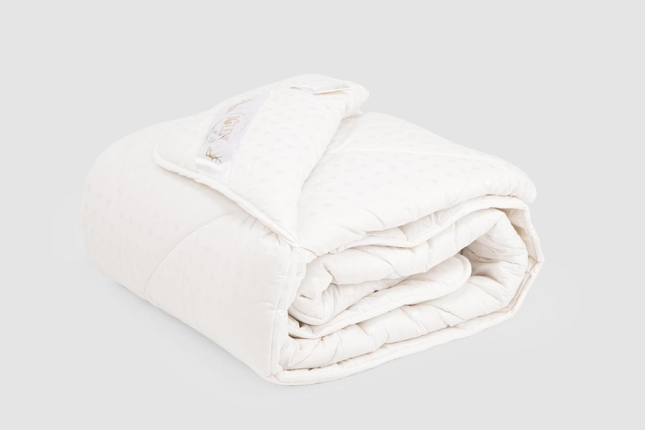 Одеяло IGLEN из овечьей шерсти в тике Летнее 110х140 см Светло-розовый (110140611)