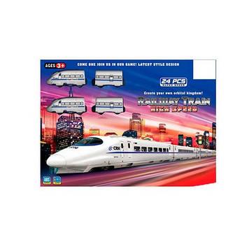 Залізниця на бат-ці,локомотив 2шт,9см,,вагони 2шт,24дет,в кор-ці,44,5х33х5см №JHX2014-02