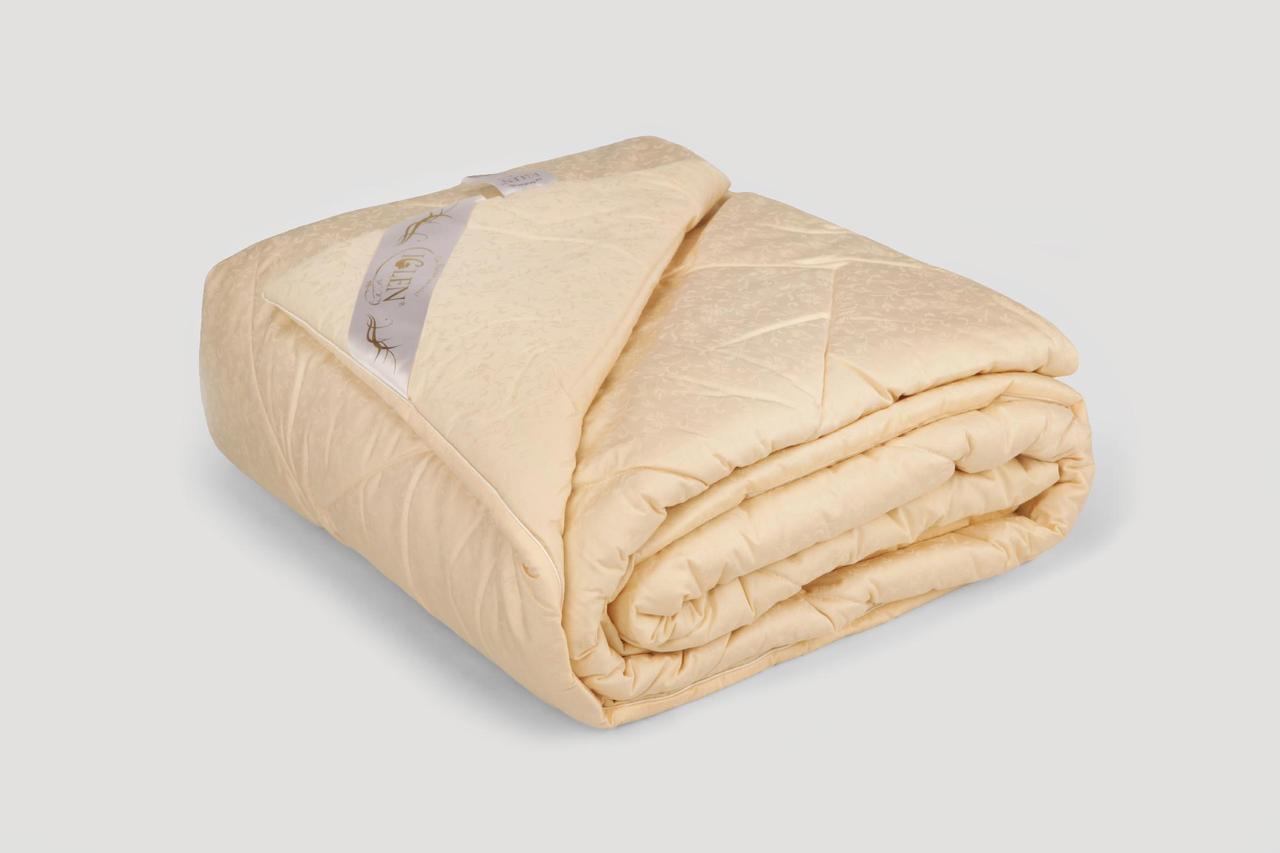 Одеяло IGLEN из овечьей шерсти в жаккардовом дамаске Летнее 200х220 см Персиковый (200220511PCH)