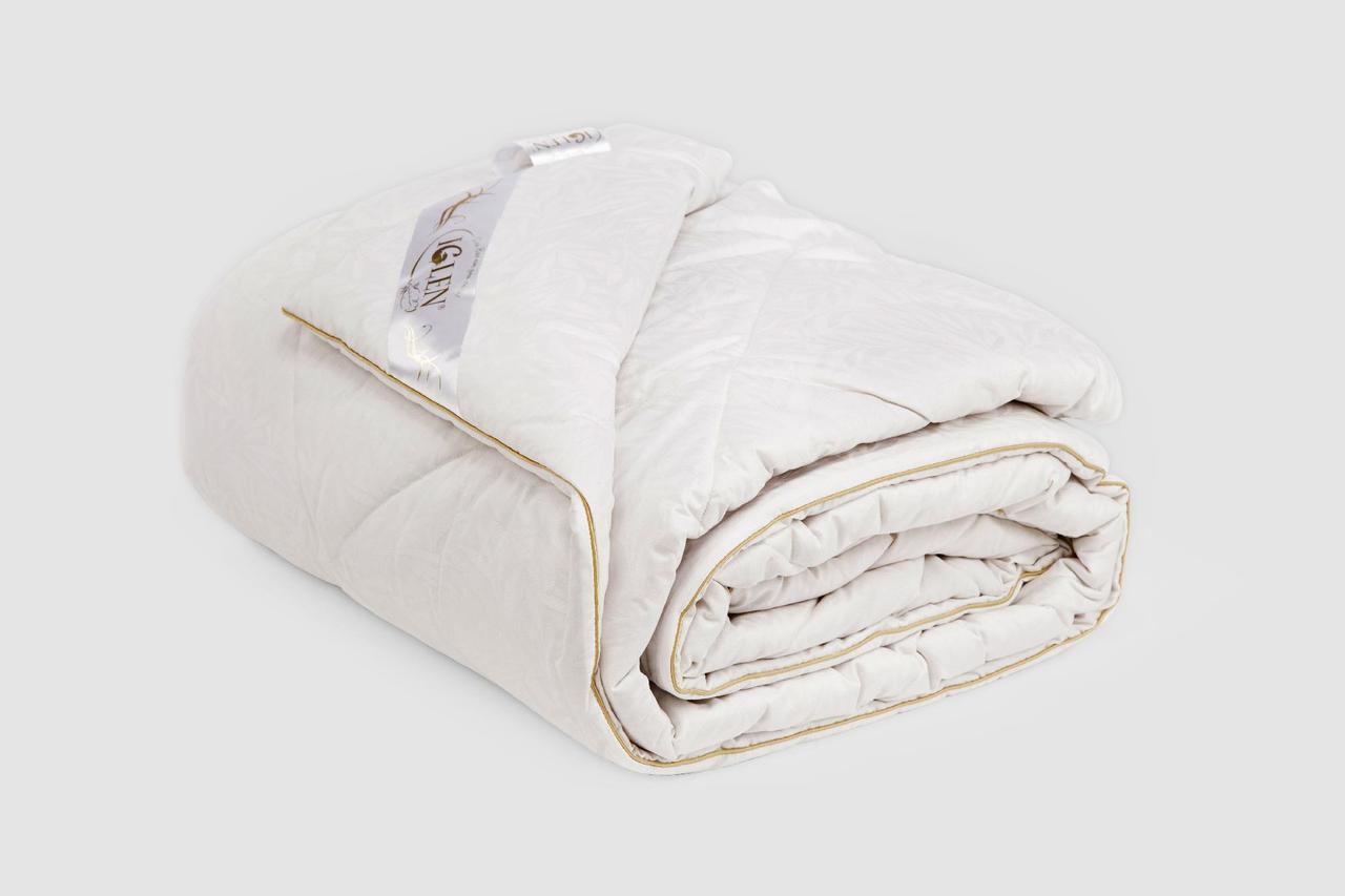 Одеяло IGLEN из овечьей шерсти в жаккардовом дамаске Зимнее 140х205 см Белый (1402055WH)