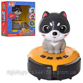 Игра 88601 (12шт) собака,аккум, сенсорн, на подставке, 12см, муз,зв,ездит, USB,в кор,14,5-17-12см
