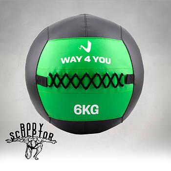 Набивний м'яч Wall Ball (медбол) Way4you 6 кг