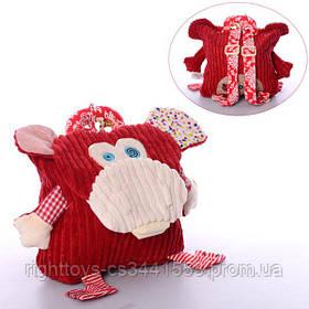 Рюкзак WLTH8052S (50шт) обезьянка, 25-21-7см, застежка на липучке, в кульке, 28-32-2см