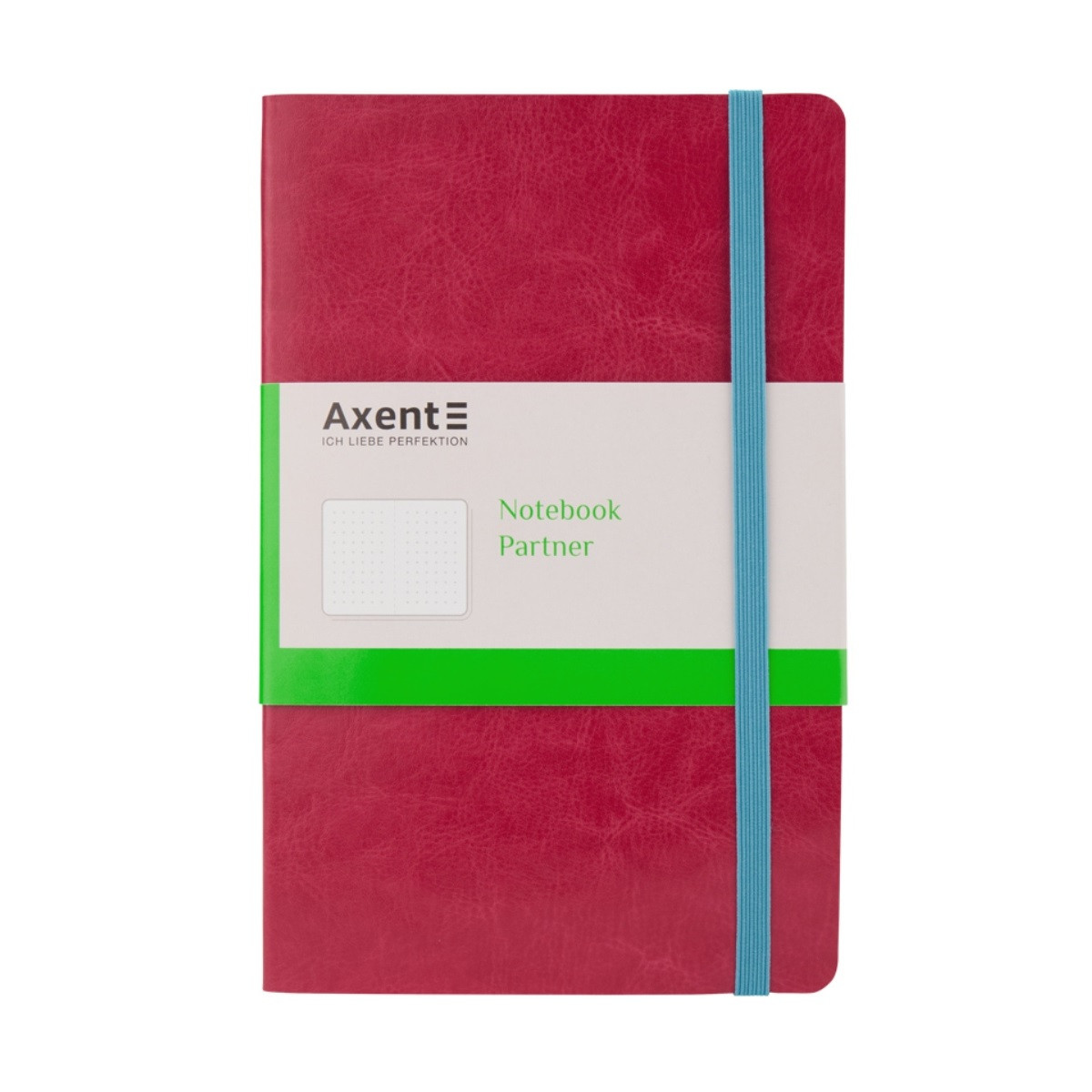 Книга записная Axent 8209-10-A, 125x195 мм, 96 листов, точка, гибкая обложка, розовая