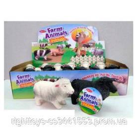 Животное A151S-DB (108шт) овечка, 11см, 12шт(2цвета)в дисплее, 32-18,5-7,5см