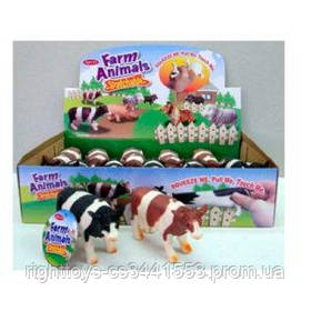 Животное A151C-DB (108шт) корова, 11см, 12шт(2цвета)в дисплее, 32-18,5-7,5см
