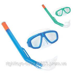 BW Набор для плавания 24018 (12шт) маска, трубка, 2 цвета