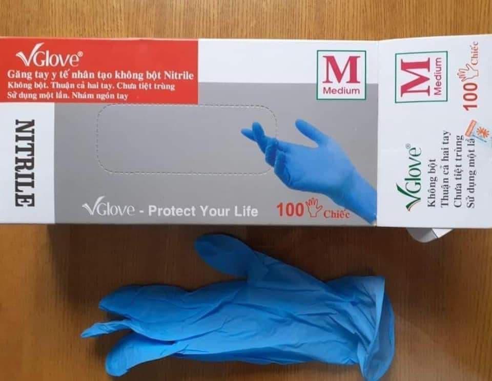 Перчатки нитриловые Vglove S M L 100шт. Вьетнам сертификат