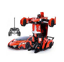 Машинка-робот трансформер на радиоуправлении Lamborghini Robot Car Size 1:18